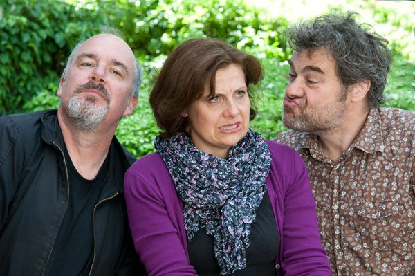 Jack Docherty, Rebecca Front and Gordon Kennedy