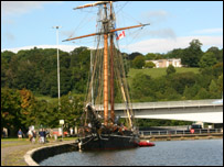 Amistad moored in Bristol