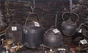 A collection of old pots