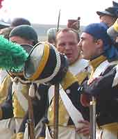 Group of Napoleonic soldier's from a reconstruction