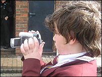 Colne Community School pupil films on School Report Day