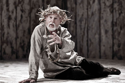 Sir Derek Jacobi as King Lear. Photo: Johan Persson