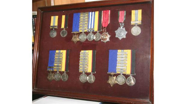 A collection of Victorian medals