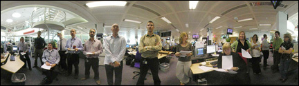 The first UK News website meeting in multimedia newsroom