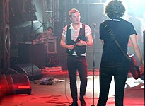 Ricky and Simon on stage