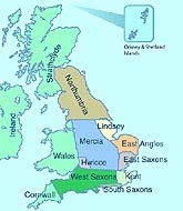 Map Of England King Alfred.Bbc History Birth Of England The Wessex Kings