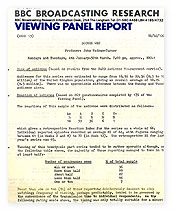 Audience Research Report on 'Doctor Who', 1982 series.