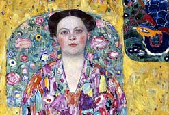 Gustav Klimt's Portrait of Eugenia Primavesi 1913/14 © Toyota Municipal Museum of Art