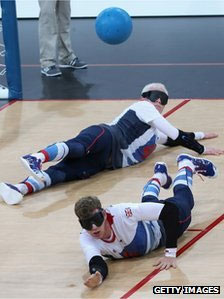 A general view of action during the goalball