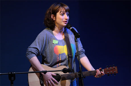 Isy Suttie performing at the 2010 Machynlleth Comedy Festival. Photo: Ed Moore
