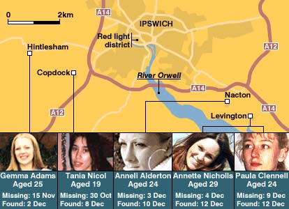Suffolk murders map