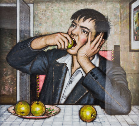 Alfred Janes' Boy With Apples, oil on canvas. Property of BBC Cymru Wales
