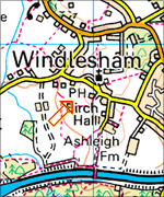 Windlesham map