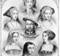 Henry VIII and his six wives: Anne of Cleves, Catherine Howard, Anne Boleyn, Catherine of Aragon, Catherine Parr and Jane Seymour.