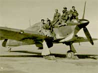 A group of Royal Indian Air Force pilots at Miranshah Airfield North West Frontier in December 1943