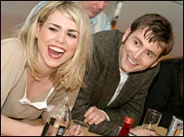 Billie Piper and David Tennant at the Press Launch