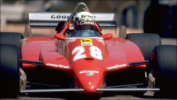 The 1982 Ferrari - a 126C2 - also possessed a small front wing