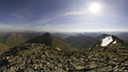 View from the rocky top of Bidean nam Bian on a clear day.