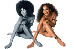 Image: Marsha Hunt pictured in the 60's and today