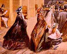 Image of Victorian women travelling independently