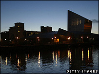 Imperial War Museum at Salford Quays in Manchester