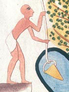 Image of an Egyptian drawing water