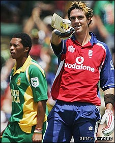 Kevin Pietersen on the 2004-05 tour of South Africa