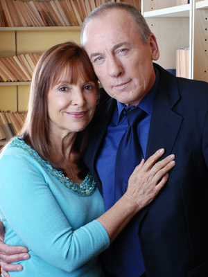 Diane Keen and her co-star Christopher Timothy on set in 2005