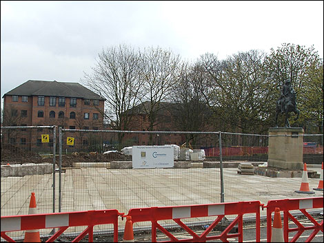 Cathedral Green work, April 2008