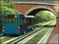 The proposed guided busway
