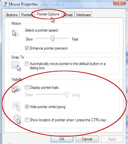 bd82ff2caf9 Fig 1 'Mouse Properties' window showing the 'Pointer Options' tab