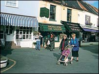 Shopping in Holt, picture by Rod Cartmell