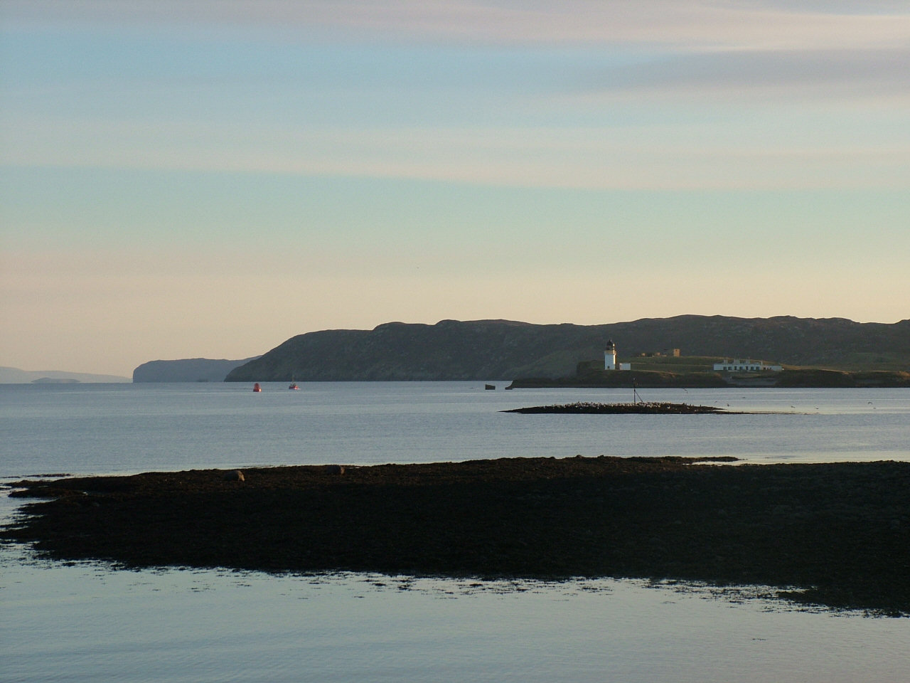 Sgeir Mhor and Arnish Light from Sandwick Bay