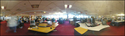 Empty BBC News website room