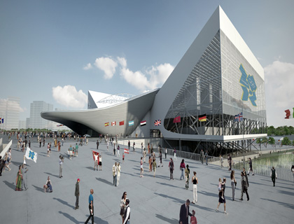 Designs for the 2012 Aquatic Centre in east London