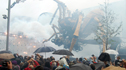 The giant spider in a snowstorm