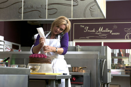 Trudi, played by Sharon Small, at work in her bakery