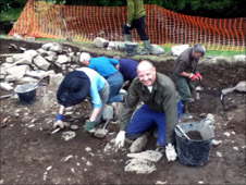 Chris Jackson on an archaeological dig in Northumberland