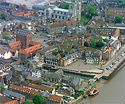 Aerial picture of King's Lynn