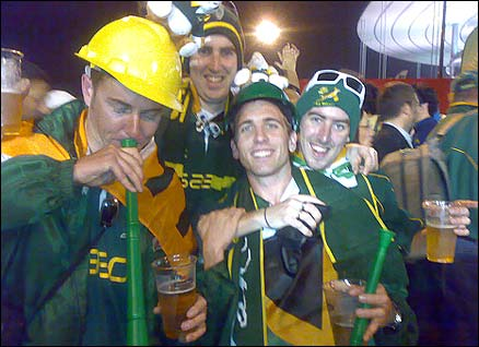 South African rugby fans
