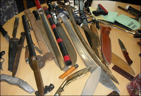 bbc derby in pictures photos knife and gun amnesty