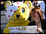 Pudsey Bear and Elly Fiorentini