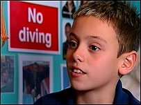 High board diver Tom Daley