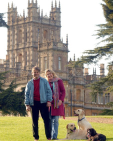 Lord and Lady Carnarvon at Highclere