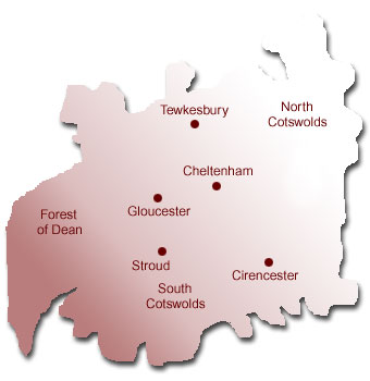Map Of Uk Gloucester.Bbc Gloucestershire Entertainment Tourist Attractions County Map