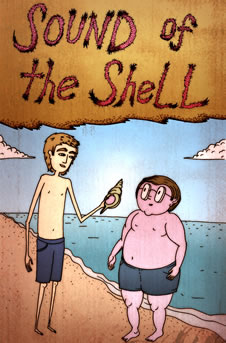 Sound of the Shell: Ralph and Piggy on the beach, holding the conch.