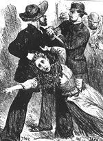 An engraving depicting 'Jack The Ripper', 1889
