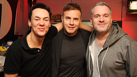 Chris Moyles and Comedy Dave Vitty with Gary Barlow