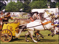 Roman Chariot Racing at the West Mid Show