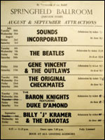 A flyer from the Beatles concert in Jersey in 1963